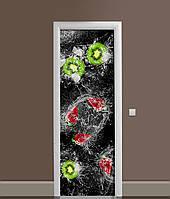 Наклейка на дверь Zatarga «Фруктовый всплеск» 650х2000 мм виниловая 3Д наклейка декор самоклеящаяся