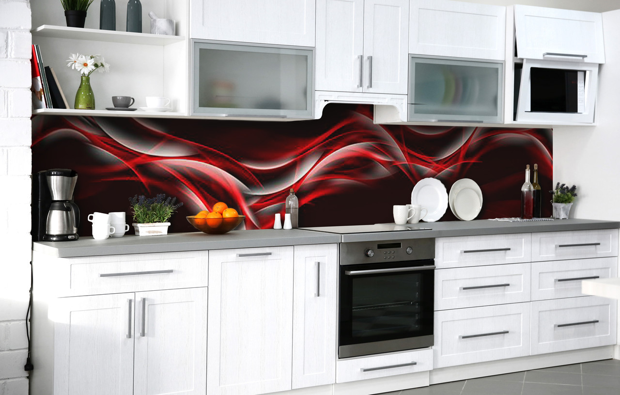 Скинали на кухню Zatarga «Винная дымка» 600х2500 мм виниловая 3Д наклейка кухонный фартук самоклеящаяся