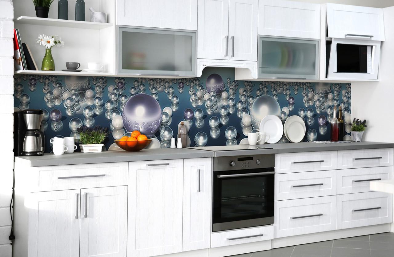 Скинали на кухню Zatarga «Жемчужные слёзы» 650х2500 мм виниловая 3Д наклейка кухонный фартук самоклеящаяся