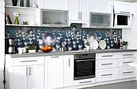 Скинали на кухню Zatarga «Жемчужные слёзы» 650х2500 мм виниловая 3Д наклейка кухонный фартук самоклеящаяся, фото 1