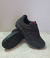 Мужские демисезонные кроссовки Restime PMB 21192 black-red Waterproof