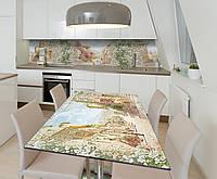 Наклейка 3Д виниловая на стол Zatarga «В сердце Европы» 600х1200 мм для домов, квартир, столов, кофейн, кафе, фото 1