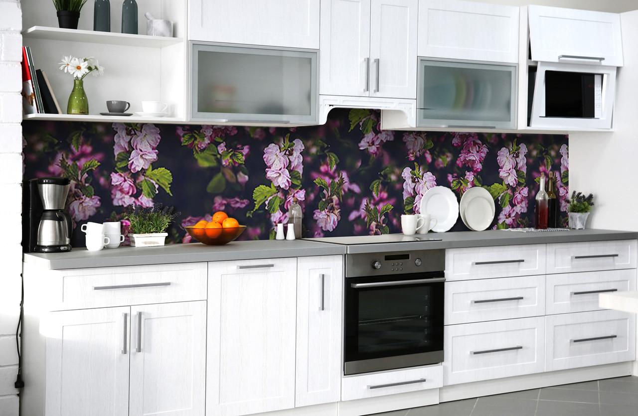 Скинали на кухню Zatarga «Тайны китайской вишни» 650х2500 мм виниловая 3Д наклейка кухонный фартук