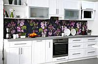 Скинали на кухню Zatarga «Тайны китайской вишни» 650х2500 мм виниловая 3Д наклейка кухонный фартук, фото 1