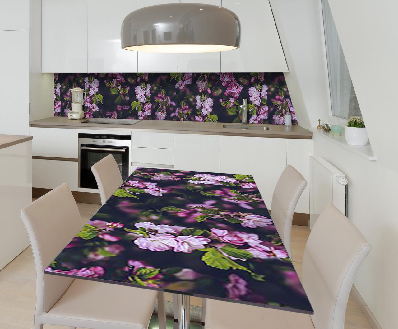 Наклейка 3Д виниловая на стол Zatarga «Тайны китайской вишни» 600х1200 мм для домов, квартир, столов, кофейн,