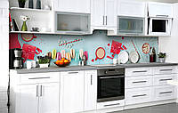 Скинали на кухню Zatarga «Какао с зефиром» 600х2500 мм виниловая 3Д наклейка кухонный фартук самоклеящаяся, фото 1