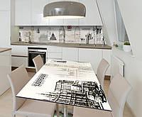 Наклейка 3Д виниловая на стол Zatarga «Лондонский сон» 650х1200 мм для домов, квартир, столов, кофейн, кафе, фото 1