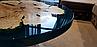 """Стол журнальный """"Maldives"""" Диаметром 85 см.  Клён и прозрачная эпоксидная смола цвета аквамарин., фото 2"""