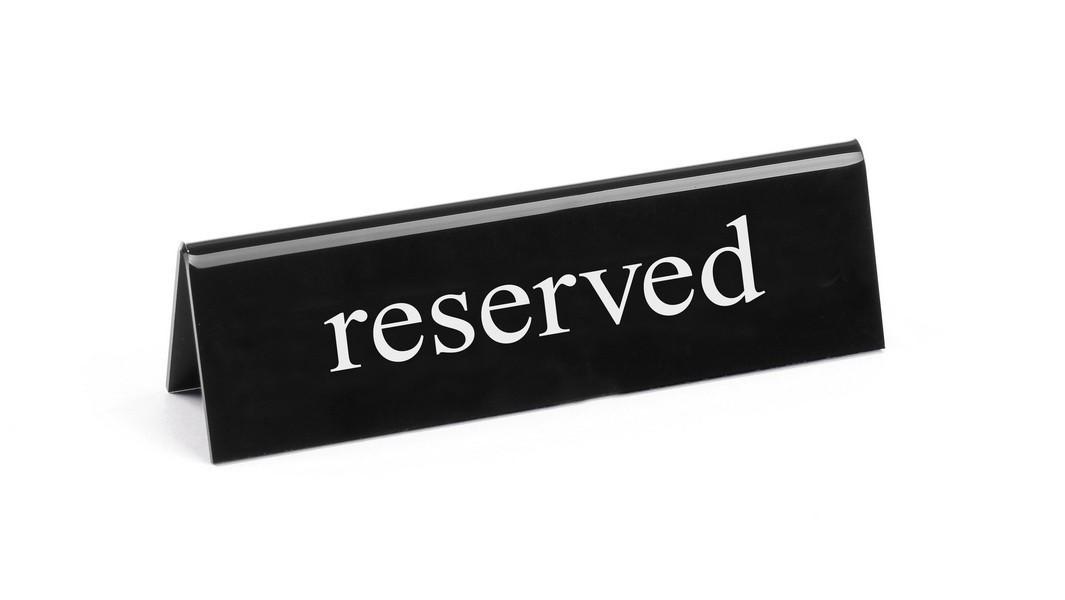 Настольная информационная табличка - reserved Hendi 663462
