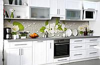 Скинали на кухню Zatarga «Вишнёвая роса» 600х2500 мм виниловая 3Д наклейка кухонный фартук самоклеящаяся, фото 1