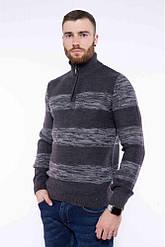 Мужской теплый свитер с воротом на молнии Turhan