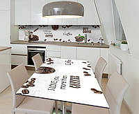 Наклейка 3Д виниловая на стол Zatarga «Кофейные мотивы» 650х1200 мм для домов, квартир, столов, кофейн, кафе, фото 1