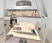 Наклейка 3Д виниловая на стол Zatarga «Евротур» 600х1200 мм для домов, квартир, столов, кофейн, кафе, фото 1