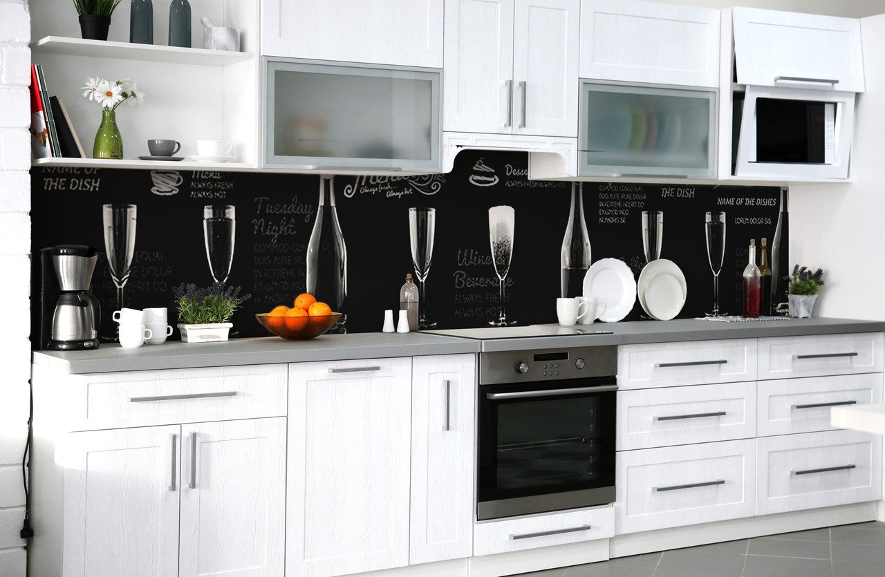 Скинали на кухню Zatarga «Сомелье» 600х2500 мм виниловая 3Д наклейка кухонный фартук самоклеящаяся