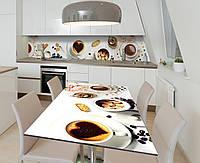 Наліпка 3Д вінілова на стіл Zatarga «Какао з тростинним цукром» 650х1200 мм для будинків, квартир, столів,, фото 1
