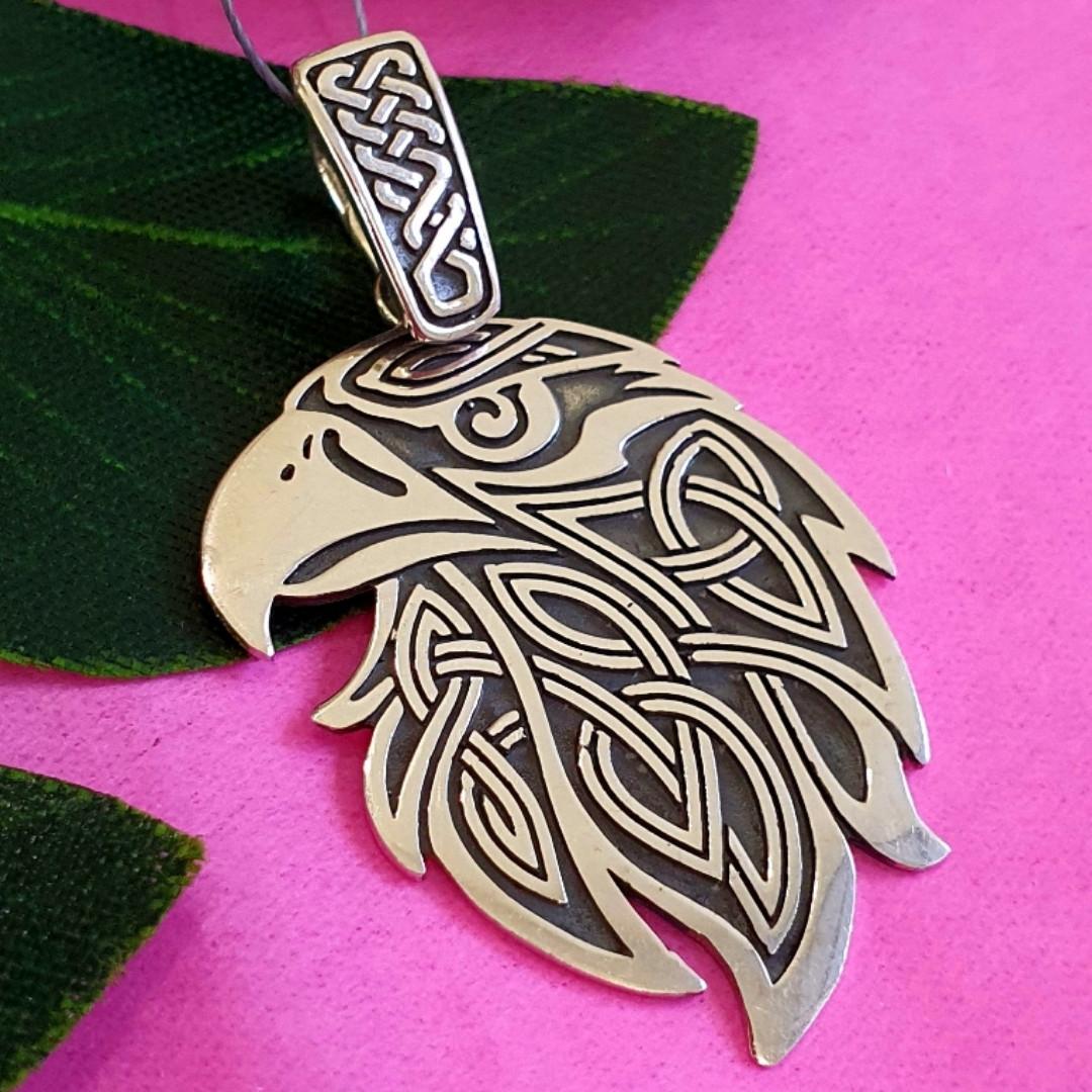 Серебряный оберег Орел - Мужской серебряный кулон Орел - Мужская подвеска из серебра орел