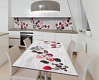 Наліпка 3Д вінілова на стіл Zatarga «Згасання ягід» 650х1200 мм для будинків, квартир, столів, кофеєнь, кафе, фото 1