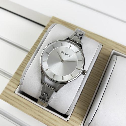 Часы наручные мужские Guardo 012440-2 Silver-Whit водонепроницаемые