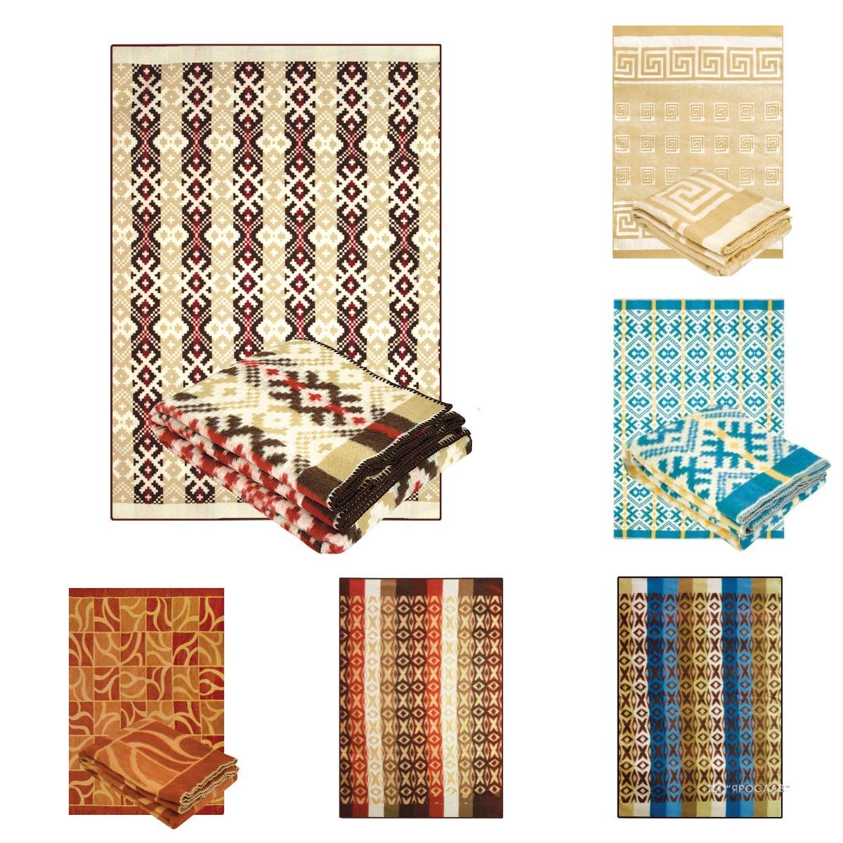 Демисезонное одеяло полушерсть полуторное 140х205 ТМ Ярослав дизайны в ассортименте