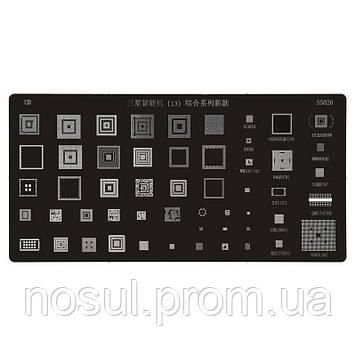 BGA-трафарет S5026 Samsung для мобильного телефона All Brands universal 65M30 3058 WM1811AE GX0063GM1216 N49VC