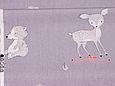 Сатин (хлопковая ткань) на сиреневом лесные звери (непрокрас каждые 65 см от кромки), фото 2