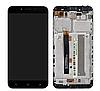 Дисплей (екран) для Asus ZenFone 3 Max 5.5 дюймів(ZC553KL)+ тачскрін чорний Titanium Gray, з передньою панеллю