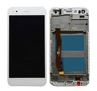 Дисплей (экран) для Huawei Nova Lite (2017)/P9 Lite mini/Enjoy 7 + тачскрин, белый, с передней панелью
