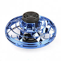 Электроспиннер летающий Fly Spinner ptw-008 с LED подсветкой игрушка 8+ синий, фото 2
