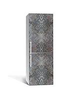 Наклейка на холодильник Zatarga «Бархатистые узоры» 650х2000 мм виниловая 3Д наклейка декор на кухню
