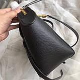 Сумка женская элентная, Селин сафьяно, 25 см, цвет черный, фото 3