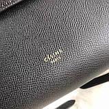 Сумка женская элентная, Селин сафьяно, 25 см, цвет черный, фото 10