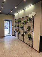 Металлическая декоративная сетка на стену для цветов
