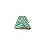 Бумажная трубочка в индивидуальной упаковке Зелёная полоска 250 шт., фото 3