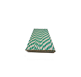 Паперова трубочка в індивідуальній упаковці Зелена смужка 250 шт, фото 3