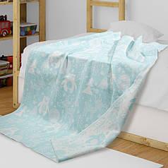 Детское одеяло в кроватку  из хлопка Мишки ТМ Ярослав 100х140 см