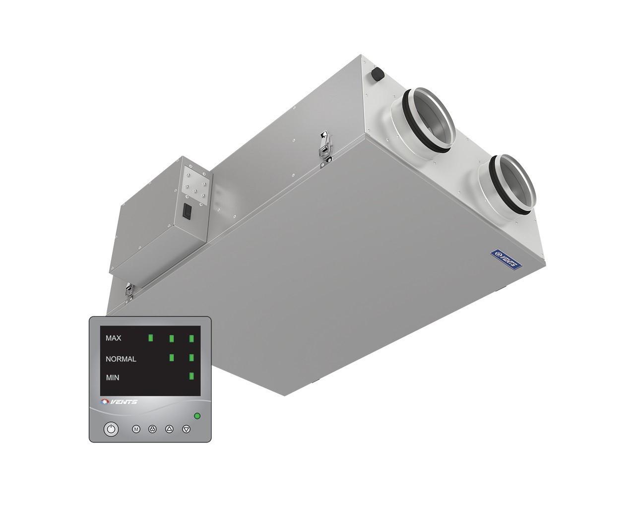 Компактная приточно-вытяжная установка Вентс ВУТ2 250 П ЕС