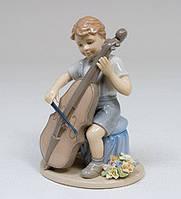 """Фарфоровая статуэтка """"Мальчик с виолончелью"""" (Pavone) CMS-12/ 5"""