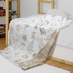 Детское одеяло в кроватку из хлопка Совы ТМ Ярослав, 100х140 см, цвета в ассортименте