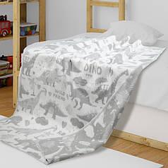 Детское одеяло в кроватку из хлопка Динозавры ТМ Ярослав, 100х140 см