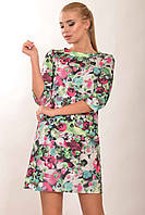 Платье из ткани Modal - модернизированное вискозное прядильное волокно, цветочный принт