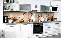 Скинали на кухню Zatarga «Винтажная плёнка» 600х2500 мм виниловая 3Д наклейка кухонный фартук самоклеящаяся