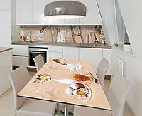 Наклейка 3Д виниловая на стол Zatarga «Винтажная плёнка» 650х1200 мм для домов, квартир, столов, кофейн, кафе