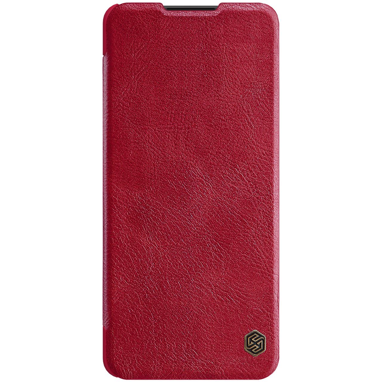 Защитный чехол-книжка Nillkin для Samsung Galaxy A42 5G Qin leather case Red