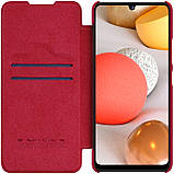 Защитный чехол-книжка Nillkin для Samsung Galaxy A42 5G Qin leather case Red, фото 4