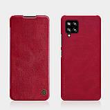 Защитный чехол-книжка Nillkin для Samsung Galaxy A42 5G Qin leather case Red, фото 5