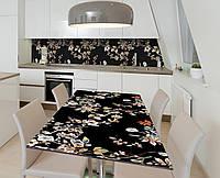 Наклейка 3Д виниловая на стол Zatarga «Ночь в саду» 650х1200 мм для домов, квартир, столов, кофейн, кафе