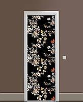 Наклейка на дверь Zatarga «Ночь в саду» 650х2000 мм виниловая 3Д наклейка декор самоклеящаяся
