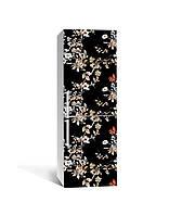 Наклейка на холодильник Zatarga «Ночь в саду» 650х2000 мм виниловая 3Д наклейка декор на кухню самоклеящаяся