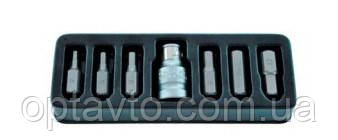 Набор бит шестигранных с держателем 7 предметов. HEX. Профессиональный инструмент King Roy