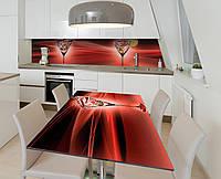 Наклейка 3Д виниловая на стол Zatarga «Настоящий мартини» 600х1200 мм для домов, квартир, столов, кофейн, кафе